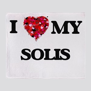I Love MY Solis Throw Blanket