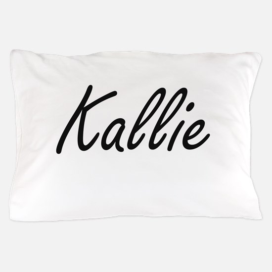 Kallie artistic Name Design Pillow Case