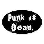 Punk is Dead Oval Sticker