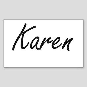 Karen artistic Name Design Sticker