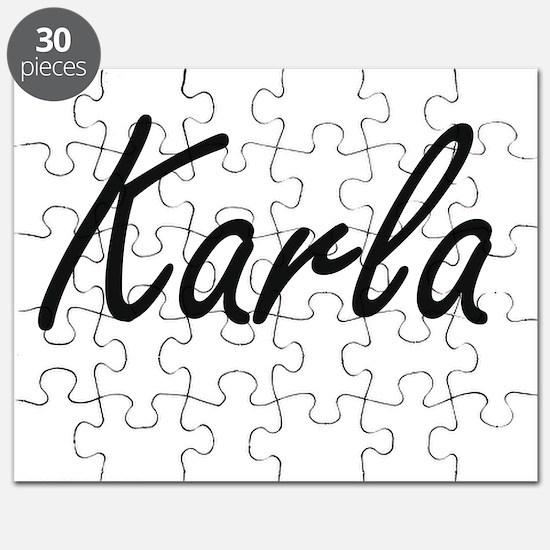Karla artistic Name Design Puzzle