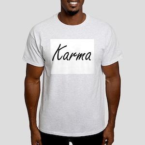 Karma artistic Name Design T-Shirt