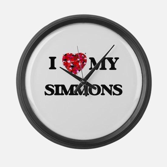 I Love MY Simmons Large Wall Clock