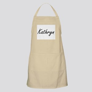 Kathryn artistic Name Design Apron