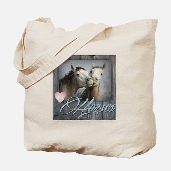 Unique White horse Tote Bag