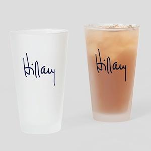 Hillary Signature Drinking Glass