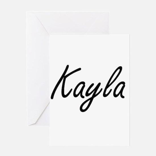 Kayla artistic Name Design Greeting Cards