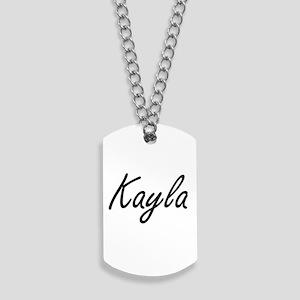 Kayla artistic Name Design Dog Tags
