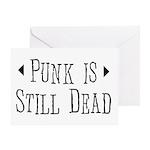 Punk = Still Dead Greeting Card