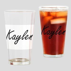 Kaylen artistic Name Design Drinking Glass