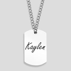 Kaylen artistic Name Design Dog Tags