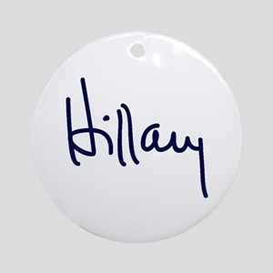 Hillary Signature Ornament (Round)