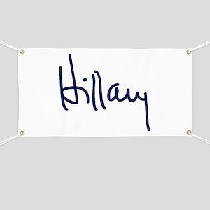 Hillary Signature Banner