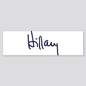 Hillary Signature Bumper Sticker