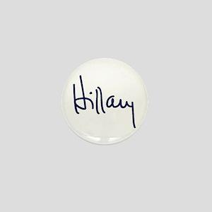 Hillary Signature Mini Button