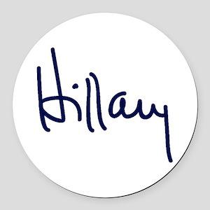 Hillary Signature Round Car Magnet