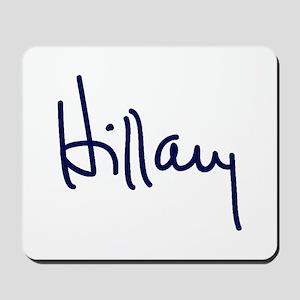 Hillary Signature Mousepad