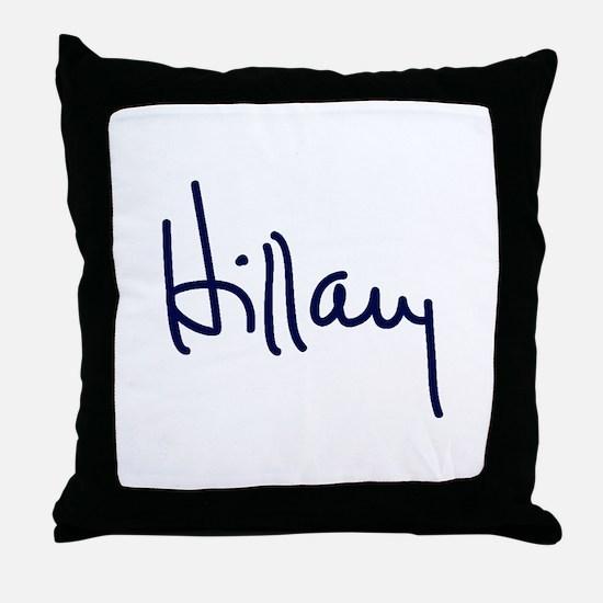 Hillary Signature Throw Pillow