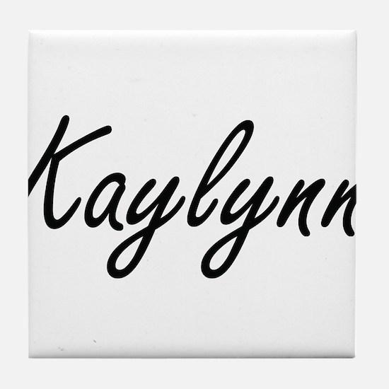 Kaylynn artistic Name Design Tile Coaster