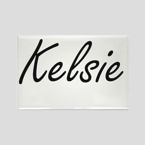 Kelsie artistic Name Design Magnets