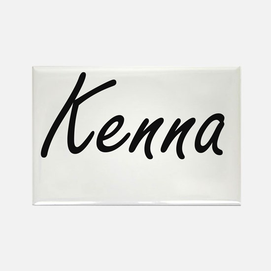 Kenna artistic Name Design Magnets