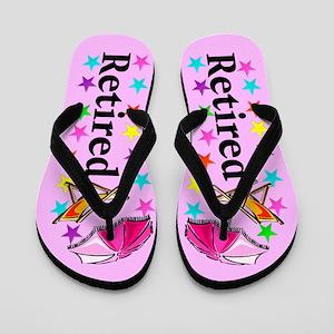 b25aecbb872fcf Retirement Flip Flops - CafePress