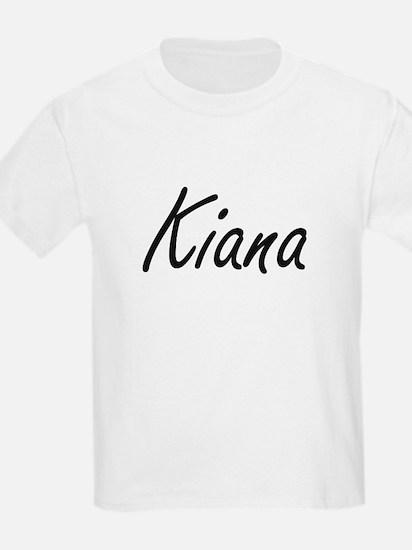 Kiana artistic Name Design T-Shirt