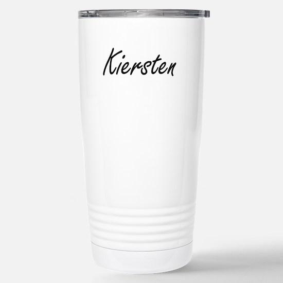 Kiersten artistic Name Stainless Steel Travel Mug