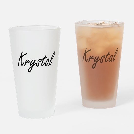 Krystal artistic Name Design Drinking Glass