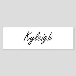 Kyleigh artistic Name Design Bumper Sticker