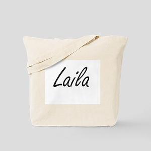 Laila artistic Name Design Tote Bag