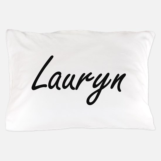 Lauryn artistic Name Design Pillow Case