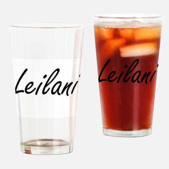 Leilani artistic Name Design Drinking Glass