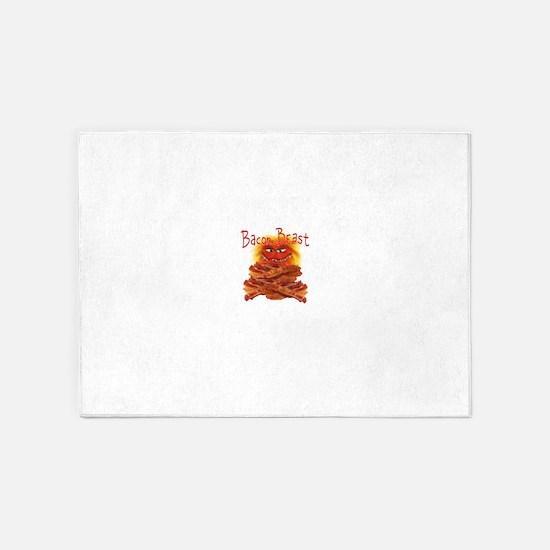 Bacon Beast 5'x7'Area Rug