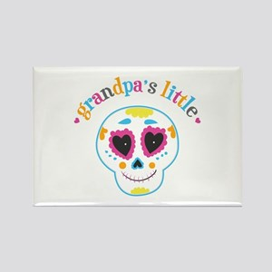Grandpa's Sugar Skull Rectangle Magnet