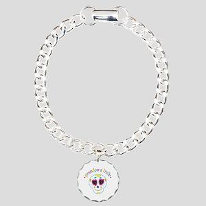 Grandpa's Sugar Skull Charm Bracelet, One Charm