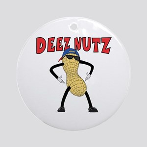 DEEZ NUTZ Ornament (Round)