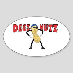 DEEZ NUTZ Sticker (Oval)