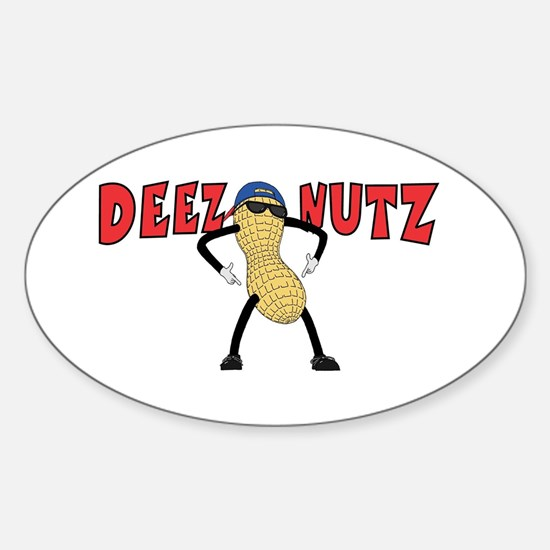 DEEZ NUTZ Sticker (Oval)