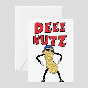DEEZ NUTZ Greeting Card