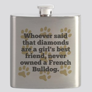 French Bulldogs Are A Girls Best Friend Flask