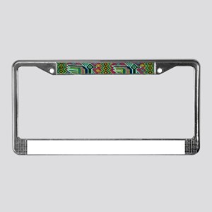 Colorful tribal Birds Pattern License Plate Frame