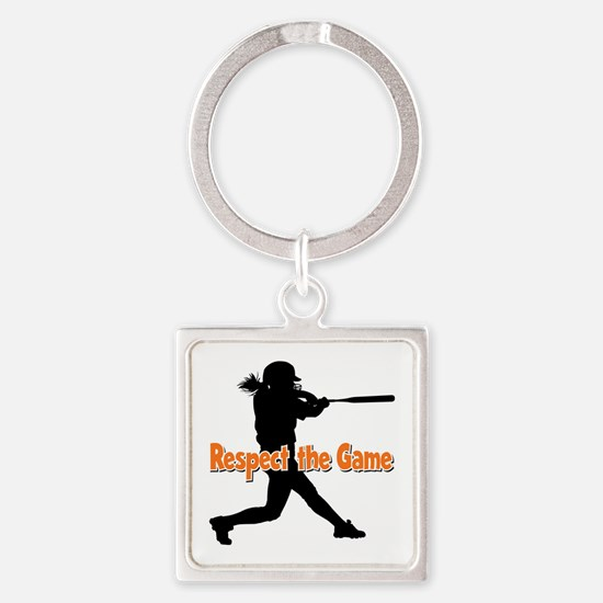 RESPECT THE GAME Square Keychain