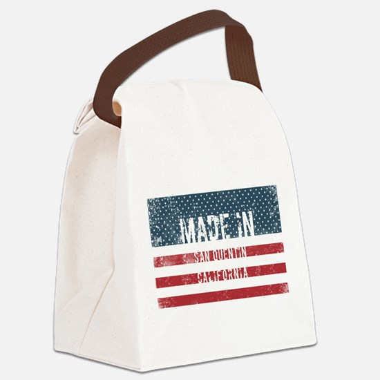 Made in San Quentin, California Canvas Lunch Bag