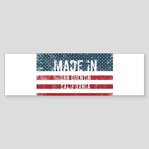 Made in San Quentin, California Bumper Sticker