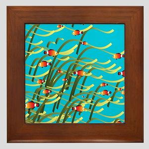 Underwater scene Framed Tile
