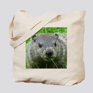 Woodchuck eating Tote Bag