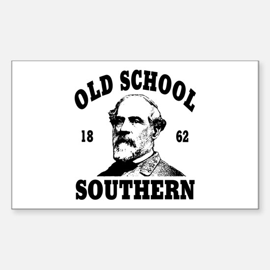 Old School Southern Rectangle Decal
