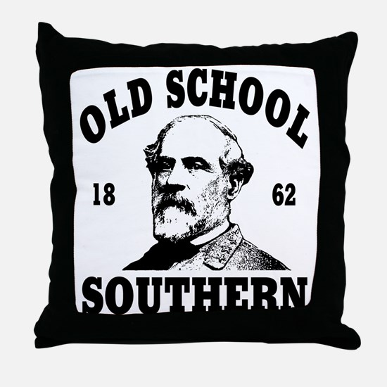 Old School Southern Throw Pillow