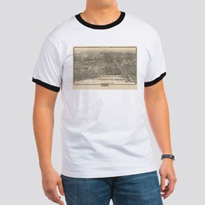 Vintage Pictorial Map of Chicago (1916) T-Shirt